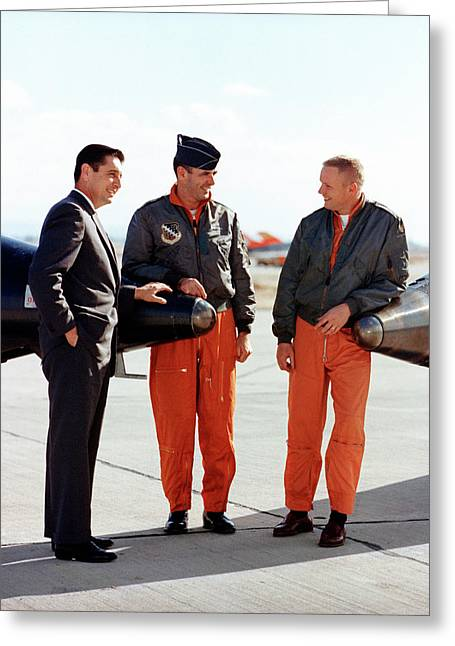 X-15 Aircraft Test Pilots Greeting Card