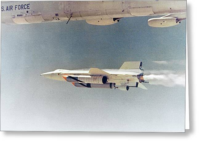 X-15 Launch From A Boeing B-52 Greeting Card by Nasa