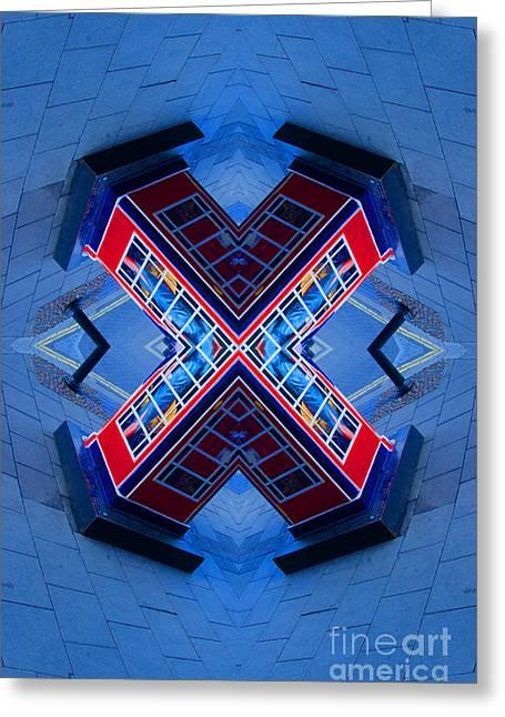 X Box Greeting Card by Chris Thaxter