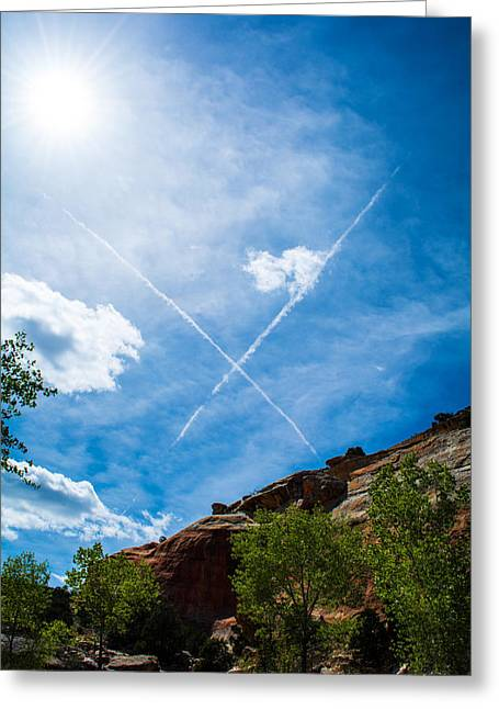 Greeting Card featuring the photograph X Marks by Rhys Arithson