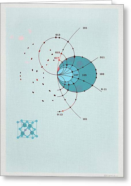 X-ray Diffraction Pattern Greeting Card
