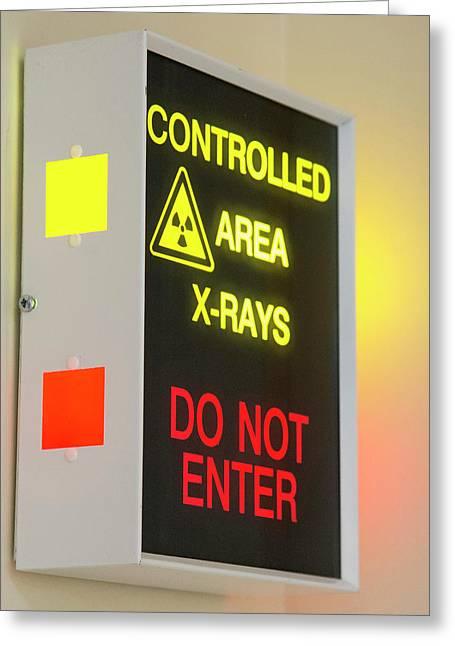 X-ray Room Warning Box Greeting Card by Public Health England