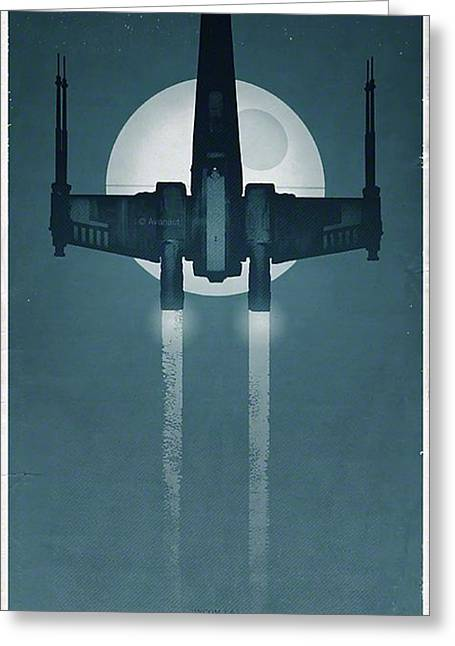 X Wing Fighter Greeting Card by Baltzgar