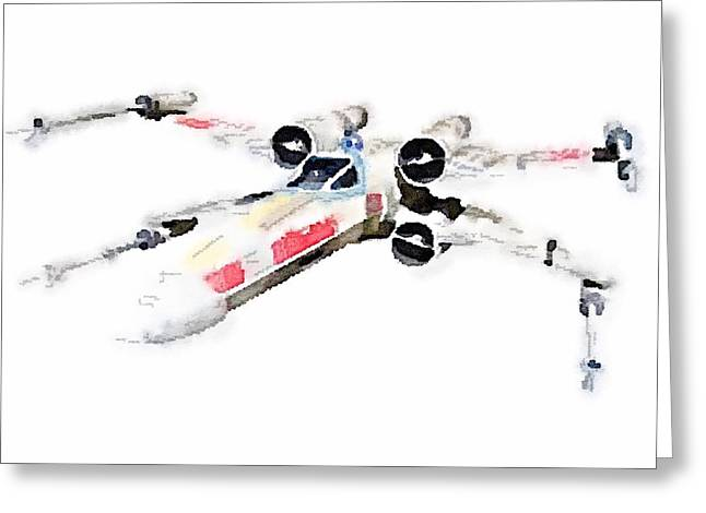 X-wing Greeting Card