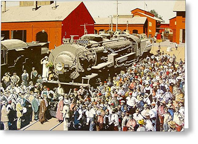 X5000 At The Sacramento Locomotive Works Greeting Card by Paul Guyer