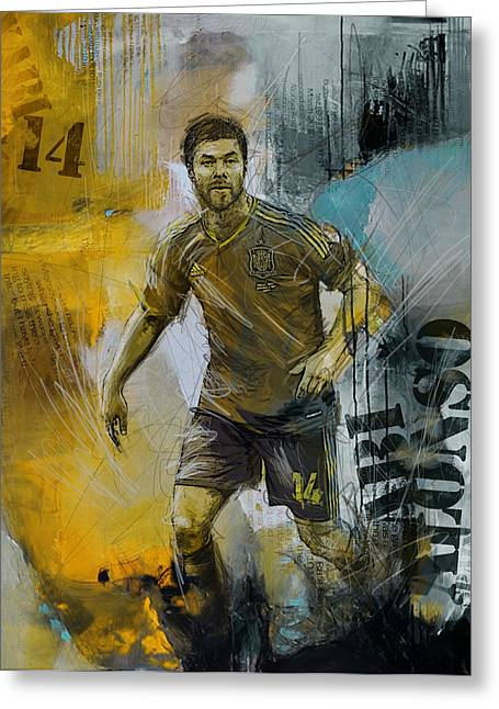 Xabi Alonso - B Greeting Card by Corporate Art Task Force