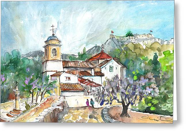 Xativa Church Greeting Card by Miki De Goodaboom