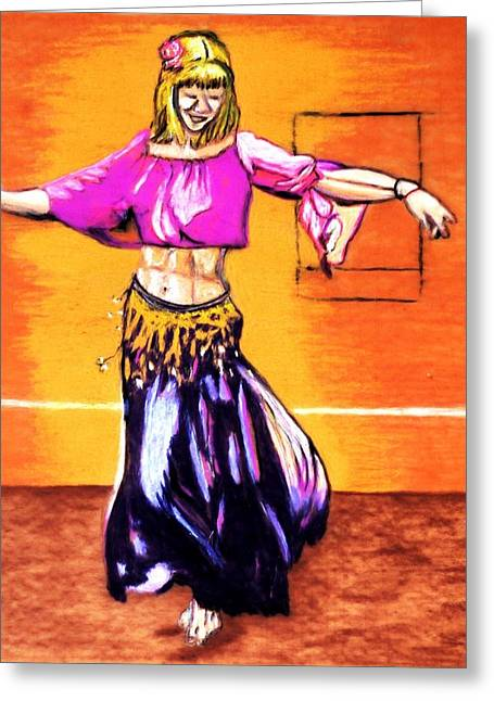 Xenia Dance 2 Greeting Card by Ayasha Loya