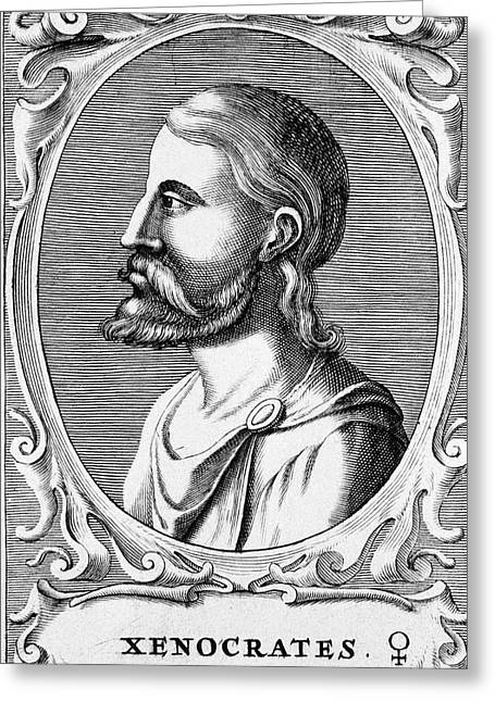Xenocrates Greeting Card by National Library Of Medicine