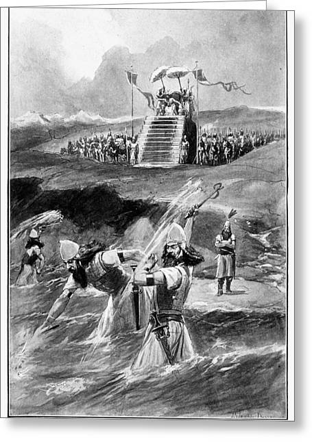 Xerxes At Hellespont Greeting Card by Granger