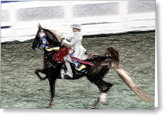 Xiv I - World Championship Horse Show - Louisville Ky Greeting Card by Thia Stover