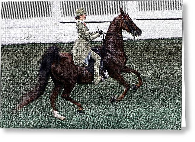 Xivd - World Championship Horse Show - Louisville Ky Greeting Card by Thia Stover