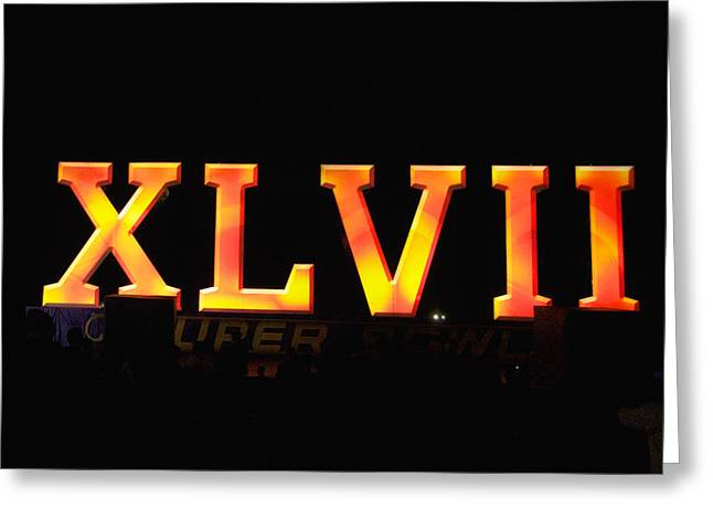 Xlvii Super Bowl Sign Greeting Card