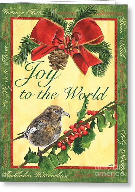 Xmas Around The World 2 Greeting Card by Debbie DeWitt