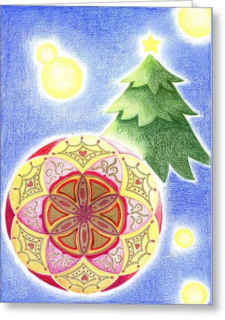 X'mas Ornament Greeting Card by Keiko Katsuta