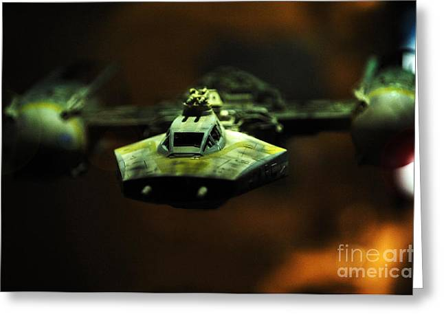 Y Wing Of Star Wars Greeting Card by Micah May