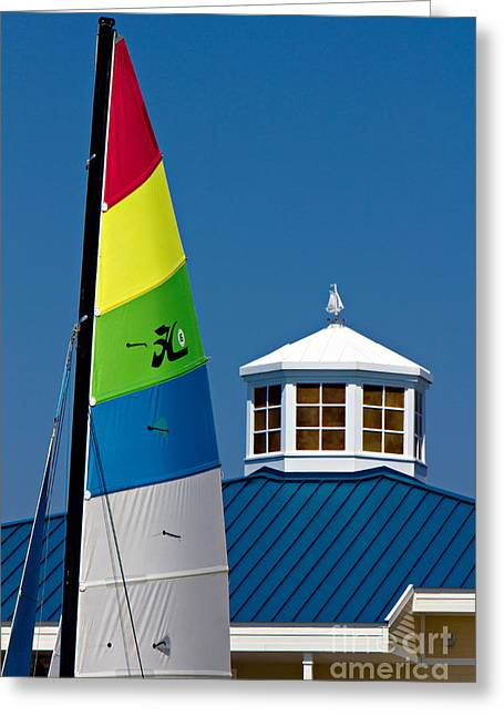 Yacht Club Greeting Card by Joan McCool