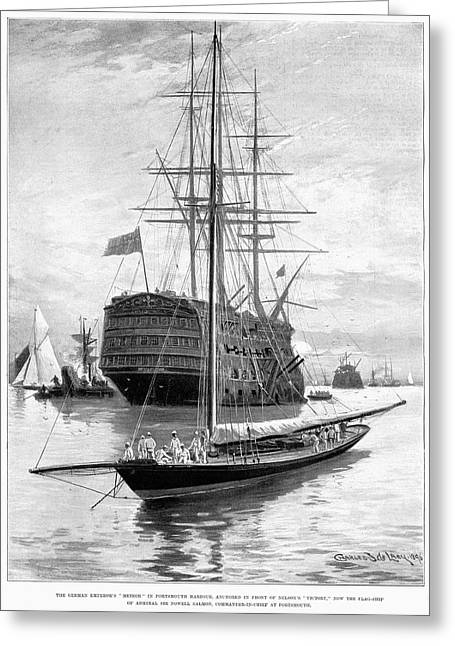 Yacht Meteor, 1896 Greeting Card by Granger