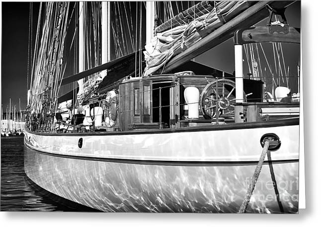 Yacht Reflections Greeting Card