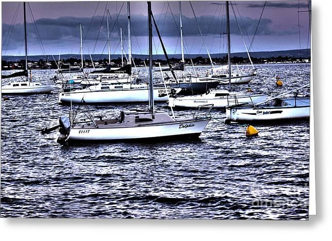 Yachts II Greeting Card by Cassandra Buckley