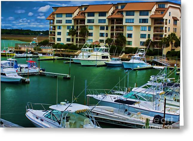 Yachts Of The Rich And Famous Greeting Card by Dave Bosse