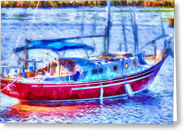 Boating - Coastal - Yachtsman's Dream Greeting Card by Barry Jones