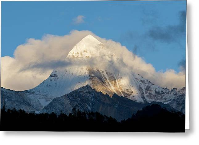 Yading Nature Preserve, Yangmaiyong Greeting Card by Howie Garber