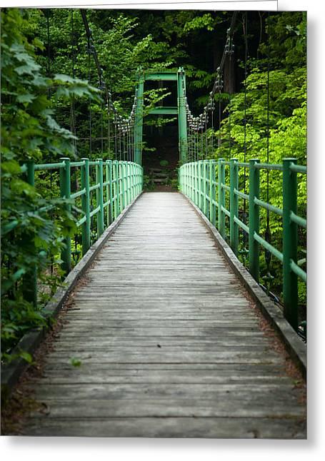 Yagen Forest Bridge Greeting Card