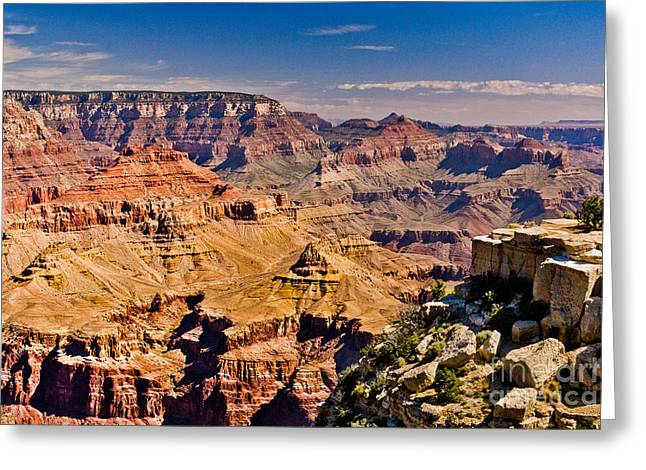 Yaki Point 7 The Grand Canyon Greeting Card by Bob and Nadine Johnston