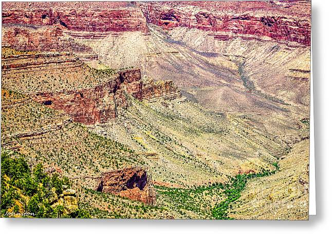 Yaki Point View Of The Grand Canyon Greeting Card by Bob and Nadine Johnston