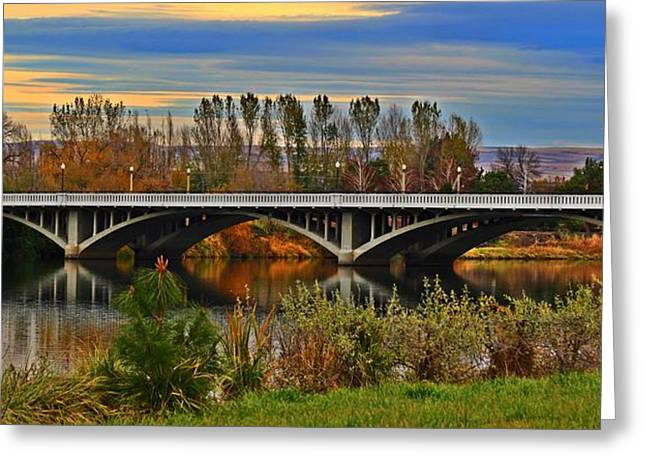 Yakima Bridge 2 Greeting Card