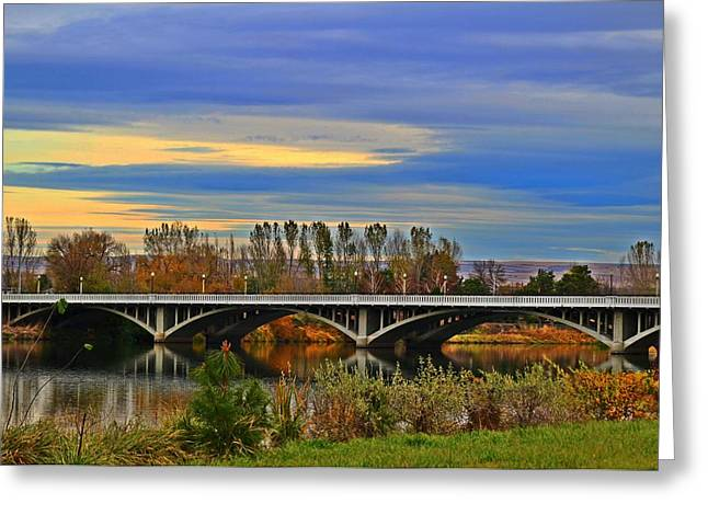 Yakima River Bridge Greeting Card