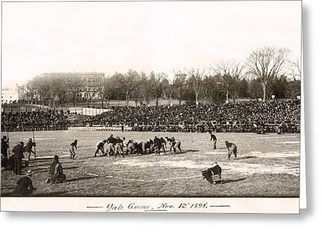 Yale Football Circa 1898 Greeting Card by Jon Neidert
