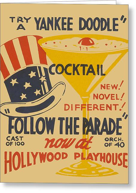 Yankee Doodle Cocktail Greeting Card by American Classic Art