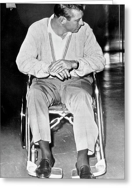 Yankee Mickey Mantle Injured Greeting Card