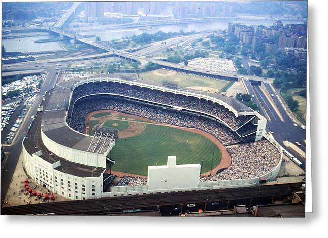 Yankee Stadium Aerial Greeting Card by Retro Images Archive