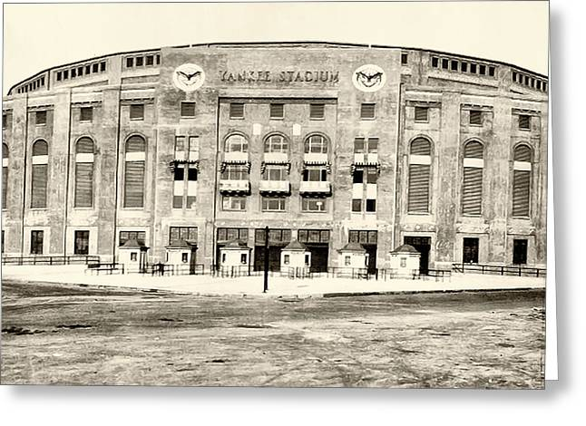 Yankee Stadium Greeting Card by Bill Cannon