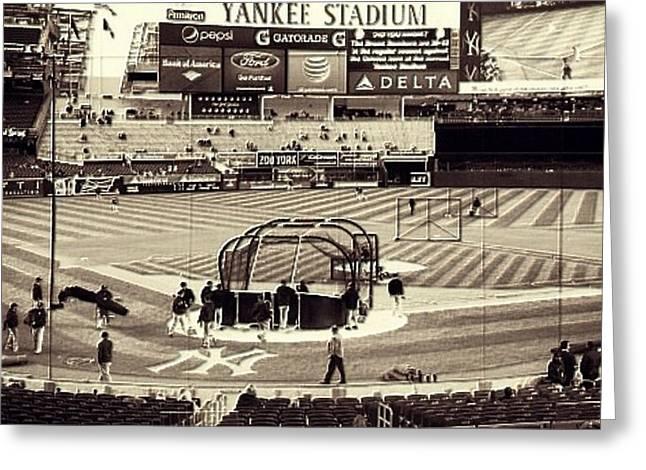 Yankee Stadium Greeting Card by CD Kirven