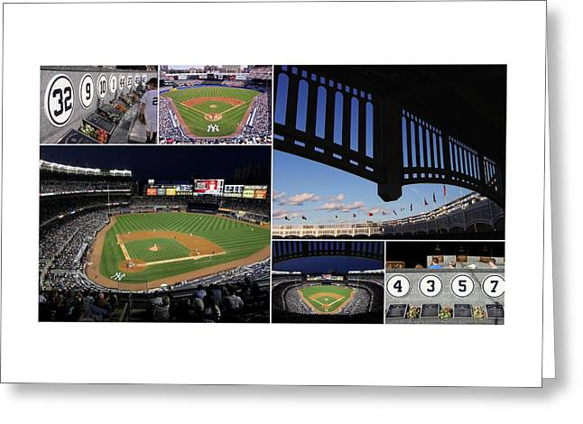 Yankee Stadium Collage Greeting Card