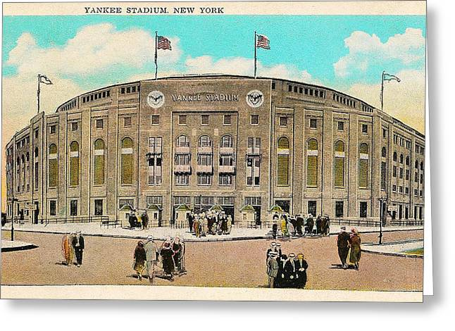 Yankee Stadium Postcard Greeting Card by Bill Cannon
