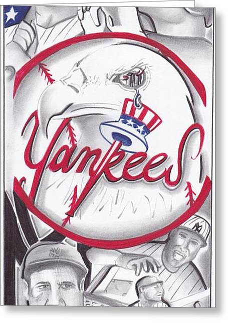 Yankees Best Greeting Card by Tasha Clarke