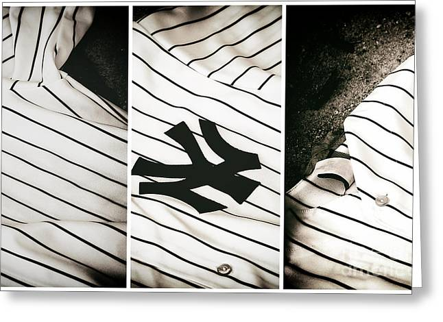 Yankees Panels Greeting Card by John Rizzuto