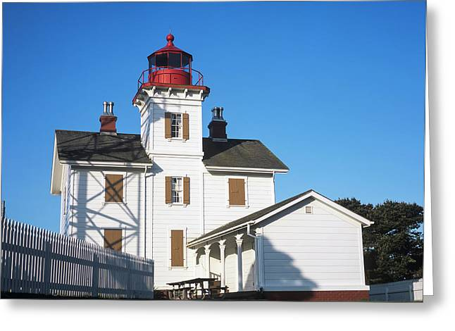 Yaquina Bay Lighthouse  Newport Greeting Card by Robert L. Potts