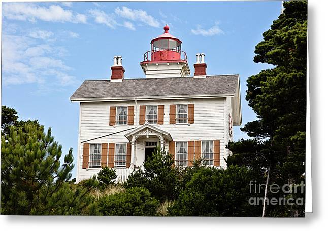 Yaquina Bay Lighthouse Greeting Card by Scott Pellegrin