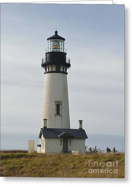 Greeting Card featuring the photograph Yaquina Bay Lighthouse by Susan Garren