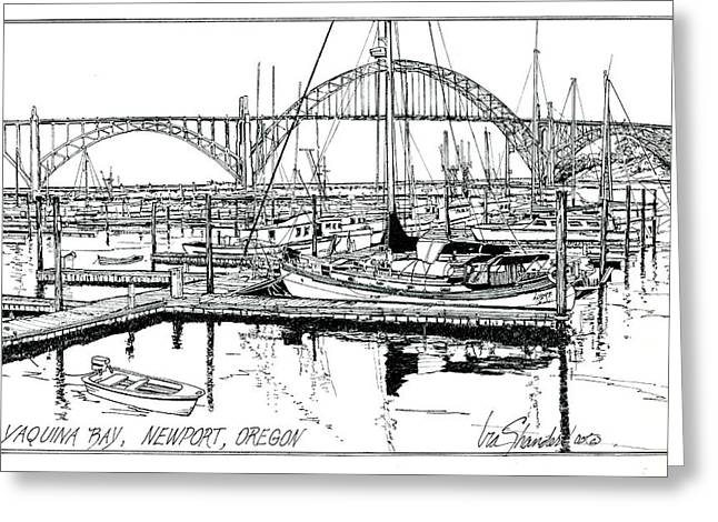 Yaquina Bay Newport Oregon Greeting Card