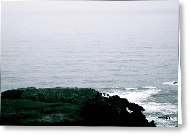 Yaquina Shores Greeting Card by Sheldon Blackwell