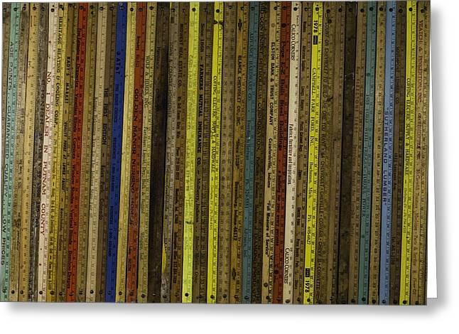 Yardsticks - Colorful Greeting Card