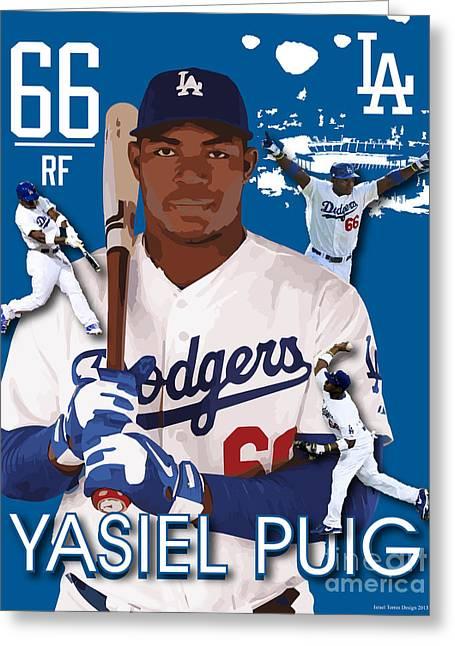 Yasiel Puig Greeting Card