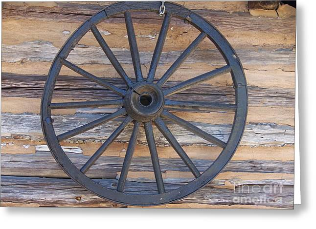 Yates Mill Wagon Wheel Greeting Card by Kevin Croitz